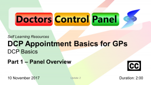 DCP Appointment Basics for GPs – Part 1